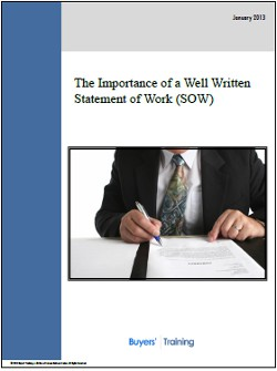 The Importance of a Well Written Statement of Work (SOW)